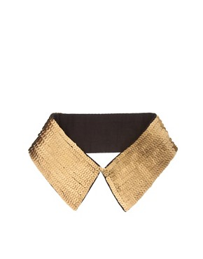 Image 2 ofASOS Gold Sequin Collar