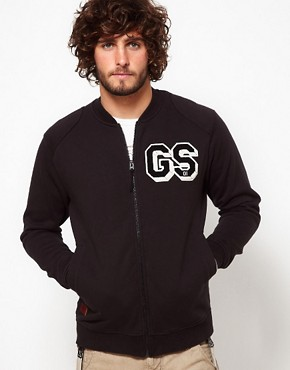 Image 1 ofG-Star Sweatshirt Aero Bomber Zip Front