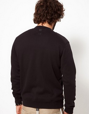 Image 2 ofG-Star Sweatshirt Aero Bomber Zip Front