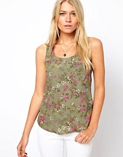 Oasis Woodland Print Shell Top
