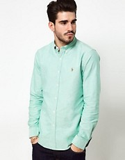 Polo Ralph Lauren Shirt In Green Oxford