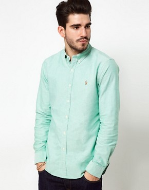Image 1 ofPolo Ralph Lauren Shirt In Green Oxford