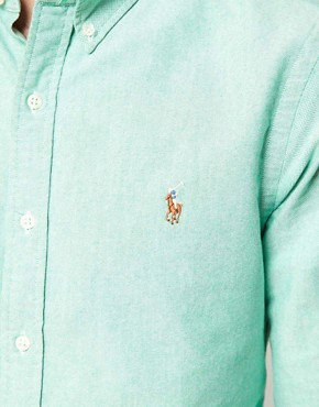 Image 3 ofPolo Ralph Lauren Shirt In Green Oxford