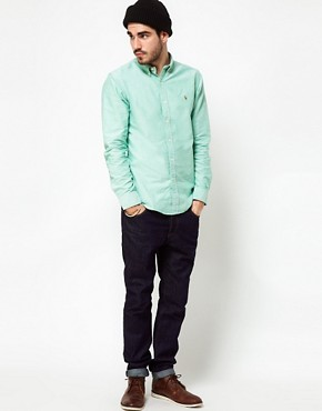 Image 4 ofPolo Ralph Lauren Shirt In Green Oxford