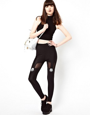 Image 1 ofLazy Oaf Handy Suspender Leggings