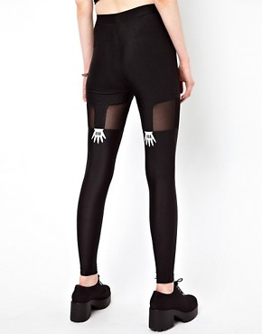 Image 2 ofLazy Oaf Handy Suspender Leggings