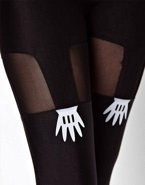 Image 3 ofLazy Oaf Handy Suspender Leggings