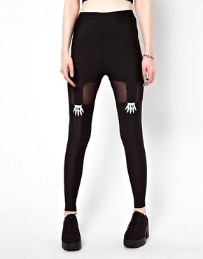 Image 4 ofLazy Oaf Handy Suspender Leggings