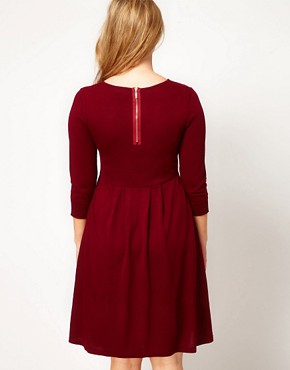 Image 2 ofASOS CURVE Exclusive Knitted Dress With Zip Back