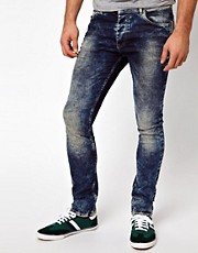 ASOS Super Skinny Jeans In Acid Wash