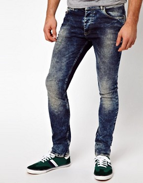 Image 1 ofASOS Super Skinny Jeans In Acid Wash