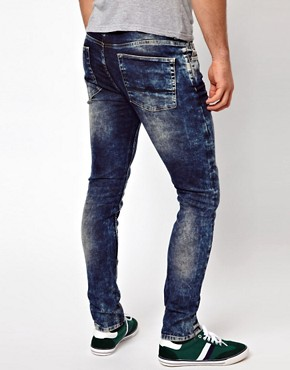 Image 2 ofASOS Super Skinny Jeans In Acid Wash
