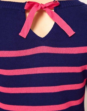 Image 3 ofA Wear Stripe Jumper With Tie Neck