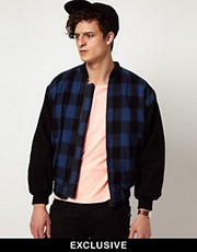 Reclaimed Vintage Checked Bomber Jacket