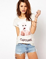 Capture By Hollywood Made - T-shirt con donna con rossetto