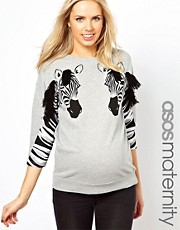 ASOS Maternity Zebra Sweatshirt