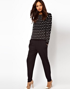 Image 1 ofASOS Peg Trousers in Jersey