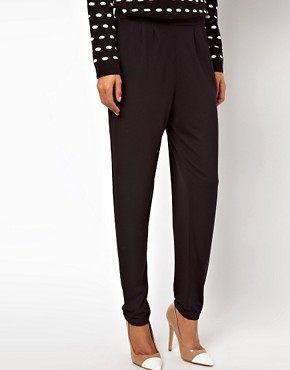 Image 4 of ASOS Peg Trousers in Jersey