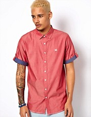 Makia Shirt Short Sleeve Contrast Turn Up
