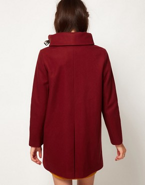 Image 2 ofSessun Sissi Wool Coat with Leather Tab Detail