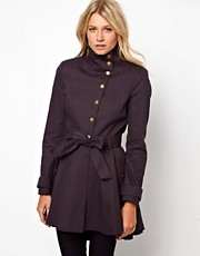ASOS Popper Front Skater Trench