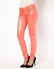 7 For All Mankind Pearl Effect Skinny Jeans