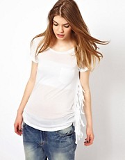 Sauce T-Shirt with Wide Fringing