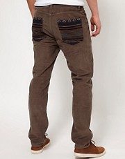 ASOS Cord Chino With Contrast Back Pocket