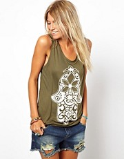 ASOS PETITE Exclusive Vest with Henna Hand