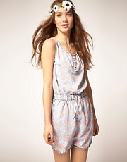 Pepe Jeans Faded Floral Playsuit