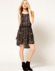 Mango Hi Low Printed Dress