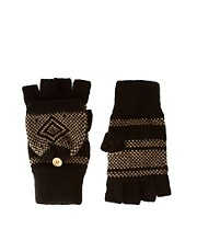 ASOS Birdseye Hood Fingerless Gloves