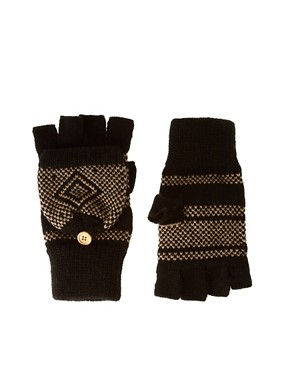 Image 1 ofASOS Birdseye Hood Fingerless Gloves