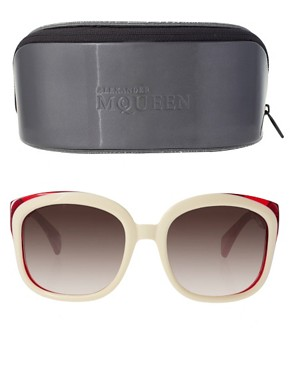Image 2 ofAlexander McQueen Two Tone Sunglasses
