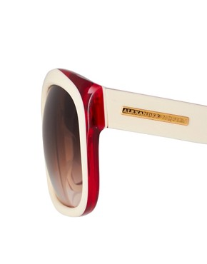 Image 4 ofAlexander McQueen Two Tone Sunglasses
