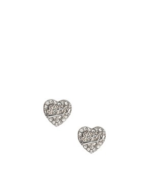 Image 1 ofLipsy Heart Stud Earrings