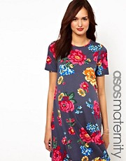 ASOS Maternity Swing Dress in Bright Floral
