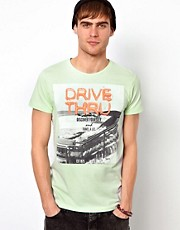 Jack &amp; Jones T-Shirt With Drive Thru Print