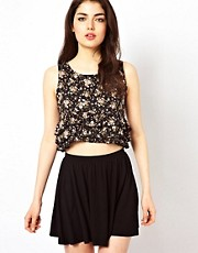 Oh My Love Floral Crop Top