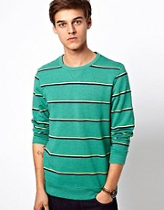ASOS Sweatshirt With 2 Color Stripe