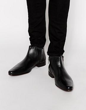 ASOS Zip Chelsea Boots in Leather