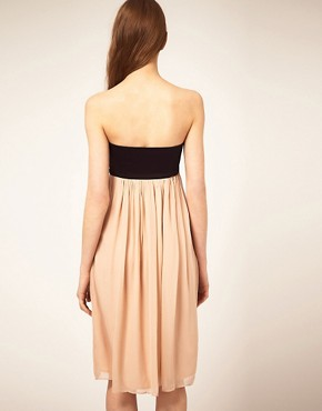 Image 2 of French Connection Bandeau Dress With Silk Skirt
