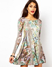 Oh My Love Printed Swing Dress