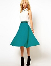 ASOS Midi Skirt In Ponte