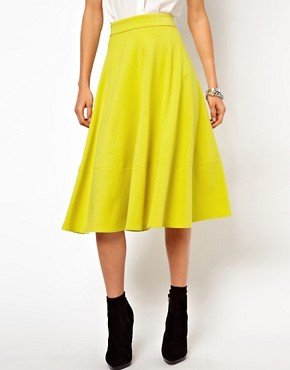 Image 4 ofASOS Midi Skirt In Ponte
