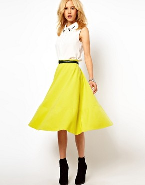 Image 1 of ASOS Midi Skirt In Ponte