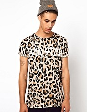 Sin Star T-Shirt With Leopard Logo