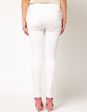 Image 2 ofASOS CURVE Exclusive Skinny Jean In White #4