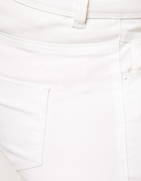 Image 3 ofASOS CURVE Exclusive Skinny Jean In White #4