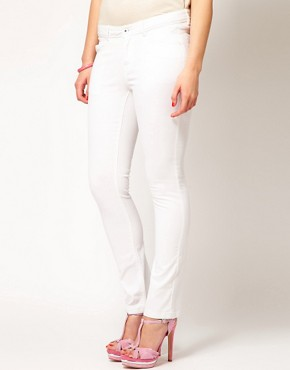 Image 4 ofASOS CURVE Exclusive Skinny Jean In White #4